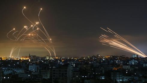 Iron Dome interceptors targeting Hamas rockets during Operation Guardian of the Walls Photo: AFP