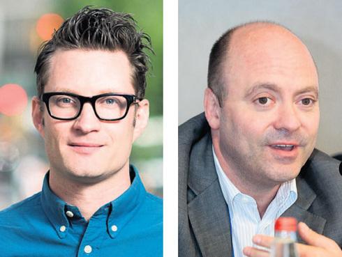 ION Acqusition Chairman Jonathan Kolber (right) and Innovid CTO Tal Chalozin. Photo: David Paxton and Nimrod Glickman
