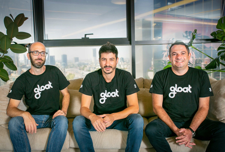 Gloat co-founders Danny Shteinberg, Ben Reuveni and Amichai Schreiber. Photo: Maayan Schwartz