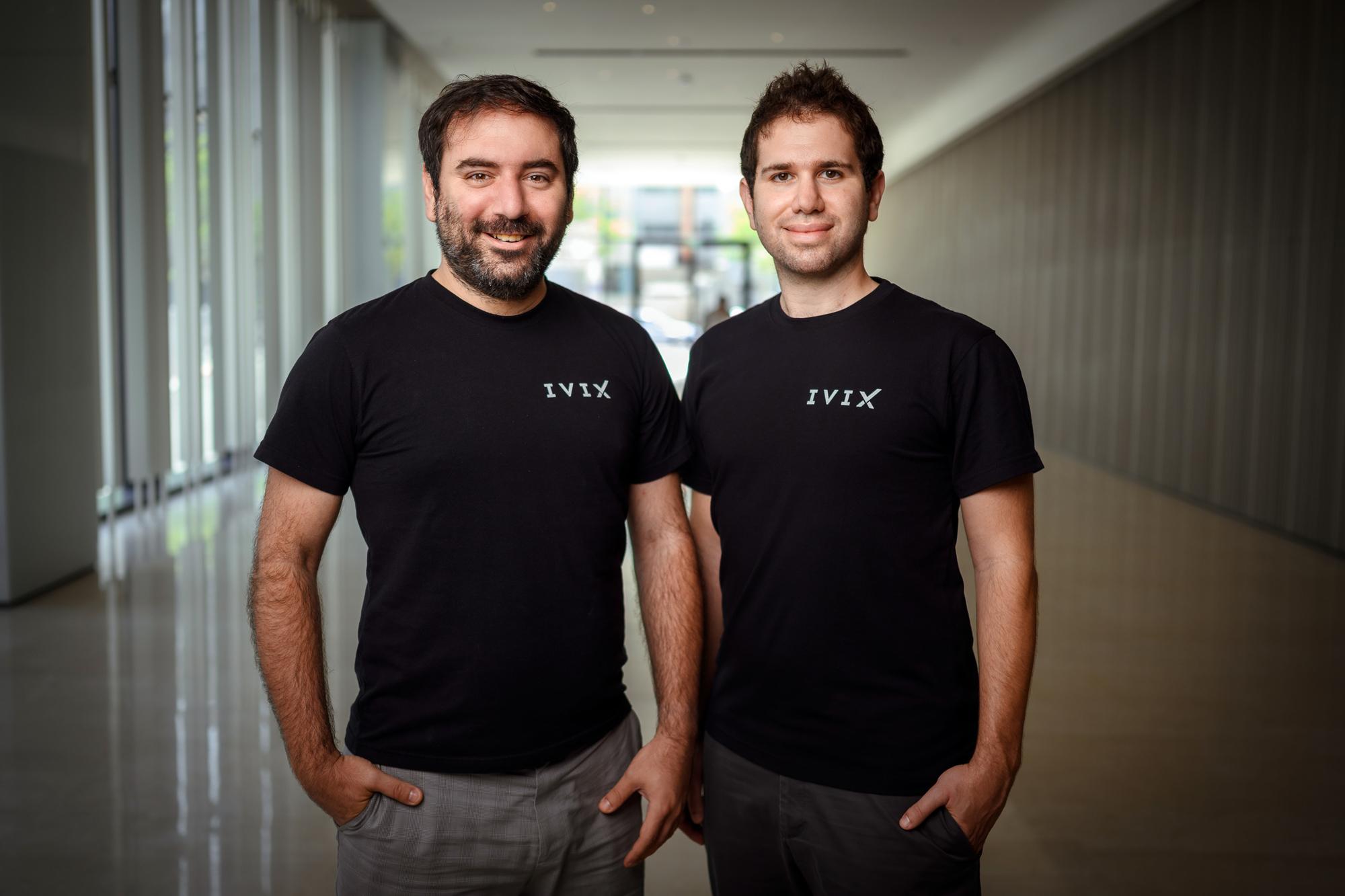 IVIX founders Matan Fattal (left) and Doron Passov Photo: Doron Letzter