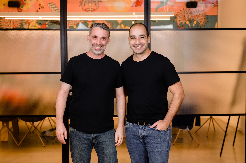 Oktopost co-founders Daniel Kushner (Left) and Liad Guez Photo: Yarin Taranos