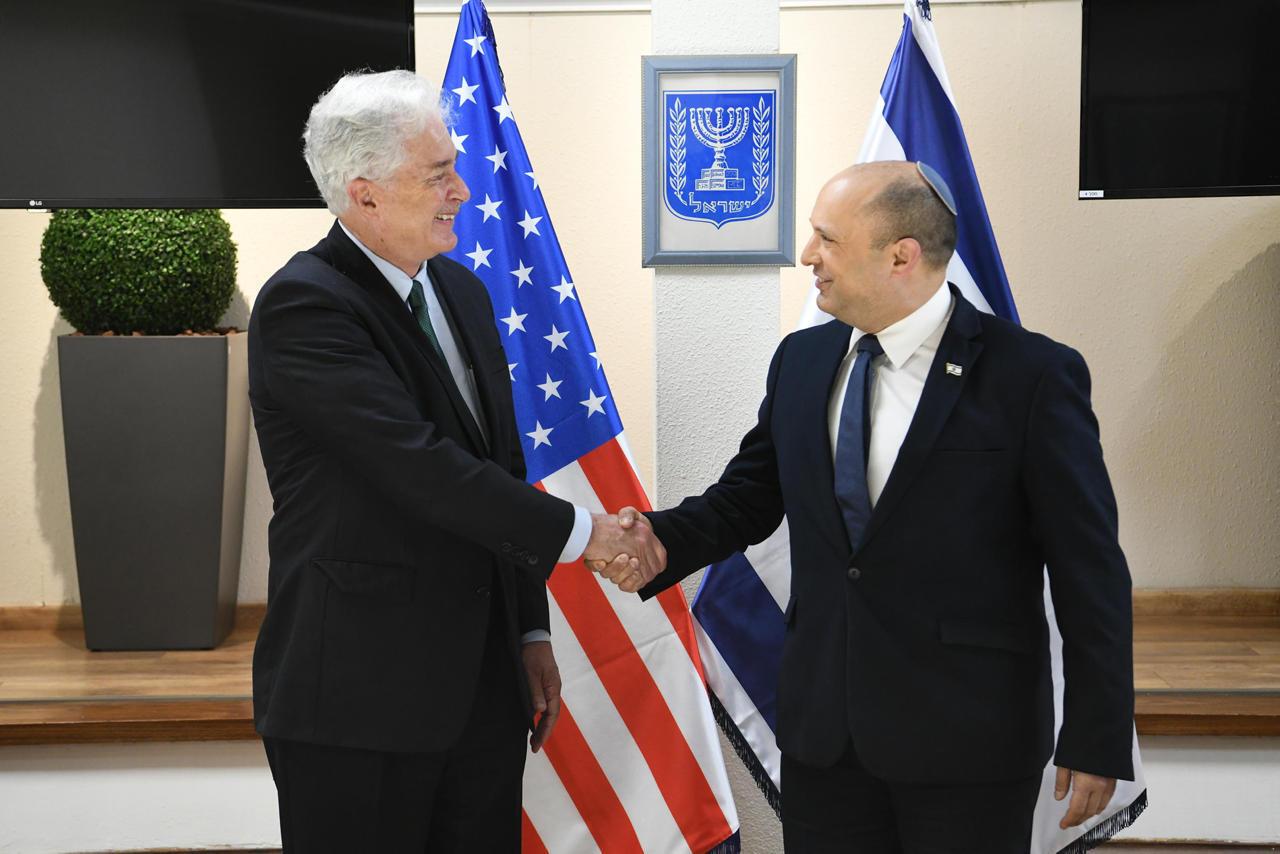 Israeli Prime Minister Naftali Bennett meeting with CIA Chief Willian Burns two weeks ago Photo: GPO/Amos Ben Gershom